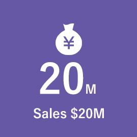 Sales $20M