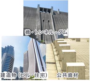 橋・トンネル・ダム、公共資材、建築物(ビル・住宅)